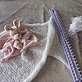 Couverture au tricotin