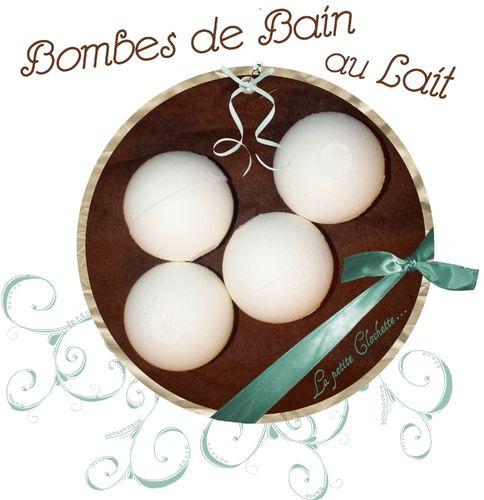bombes de bain au lait