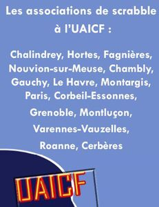 Associations Scrabble UAICF