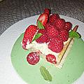 Tarte aux fraises et aux framboises