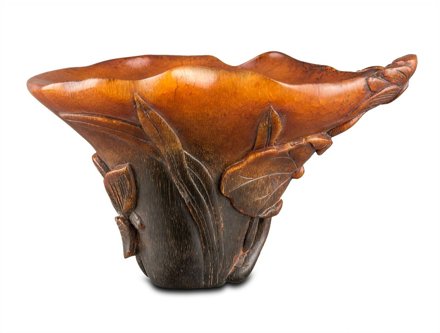A small rhinoceros horn cup, late Qing dynasty (1644-1911)