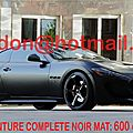 Maserati gransport, covering nice, covering nice noir mat auto total covering noir mat, peinture covering noir mat, covering ja
