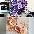 My two first mixed media items on my etsy shop!