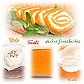 Roulé de tomate au fromage ail et fines herbes (pour une entrée froide ou un buffet)