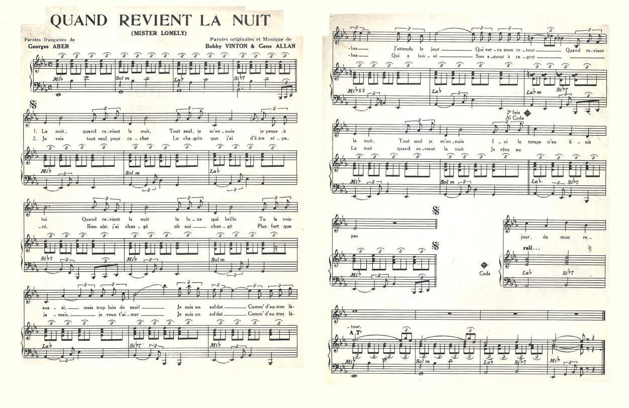 Mister Lonely (Partition-Sheet Music)
