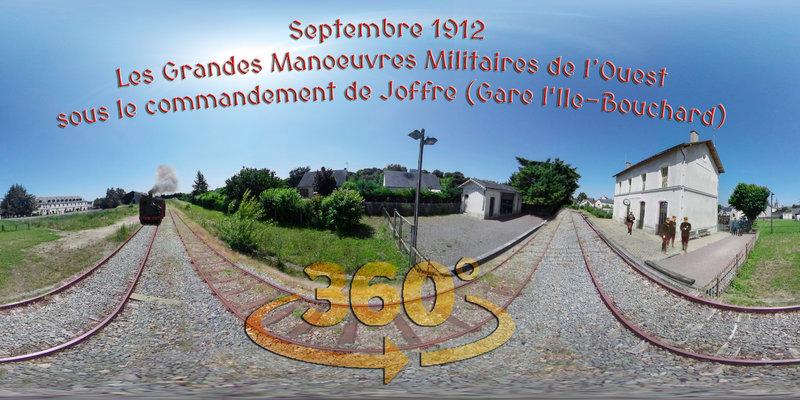 Septembre 1912 - Les Grandes Manoeuvres Militaires de l'Ouest sous le commandement de Joffre (Gare l'Ile-Bouchard)