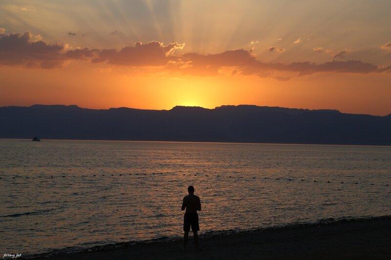 sunset aqaba