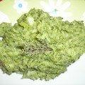 Purée de brocolis au thym frais