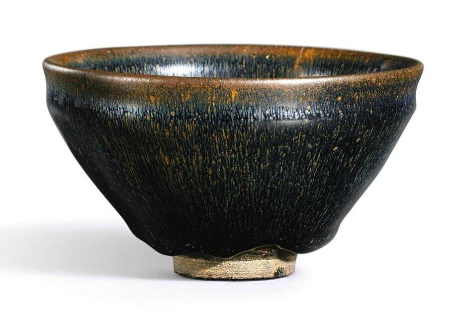 A 'Jian' 'hare's fur' tea bowl, Song dynasty