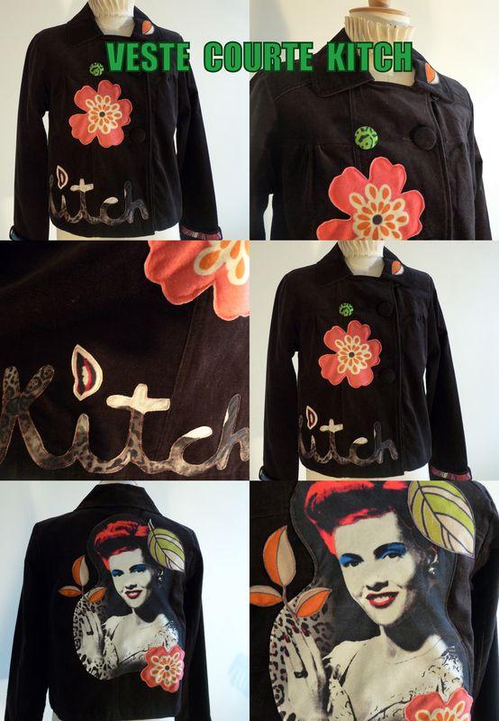 veste courte kitch