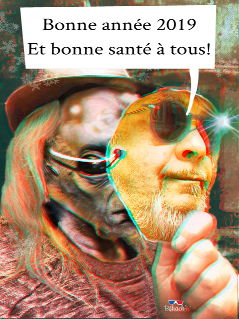 BONNE ANNEE 2019...Anaglyphe by Hazoo!