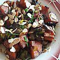 Poêlée de patates douces caramélisées