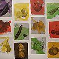 Des fruits, des légumes, et des couleurs.