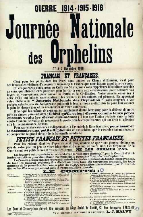Journée Nat des orphelins 1916