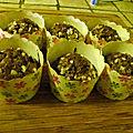 Cupcake moka aux eclats d'amandes