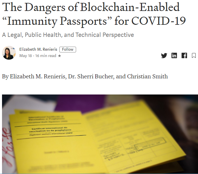 "2020-07-13 14_57_13-The Dangers of Blockchain-Enabled ""Immunity Passports"" for COVID-19 _ by Elizabe"