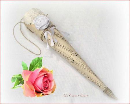 Cornet musique -rose - Lylas