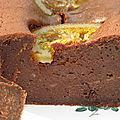 Cake fondant au chocolat aux oranges confites