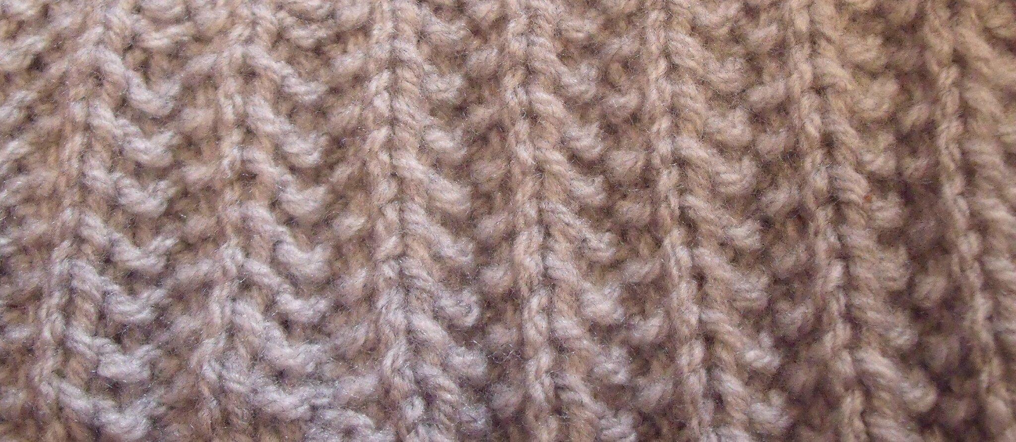 45d7507a12cfb Les fausses côtes anglaises. - L'atelier tricot de Mam' Yveline.