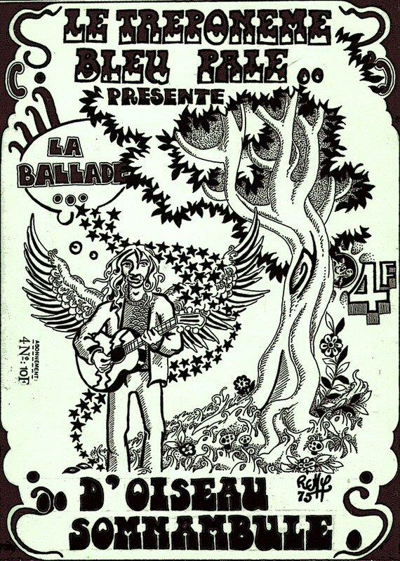 Affichette Oiseau Somnambule