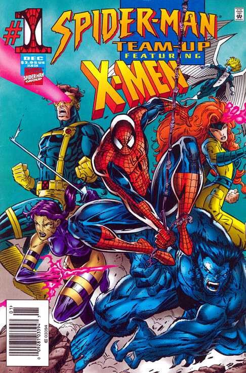 spiderman team-up 1995 01 spiderman & x-men