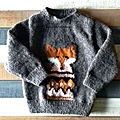 Tricot - angèle - pull renard 18 mois