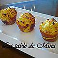 Cakes de pomme de terre, lardons et proscuitto
