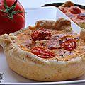 Tartelette aux tomates cerises et parmesan