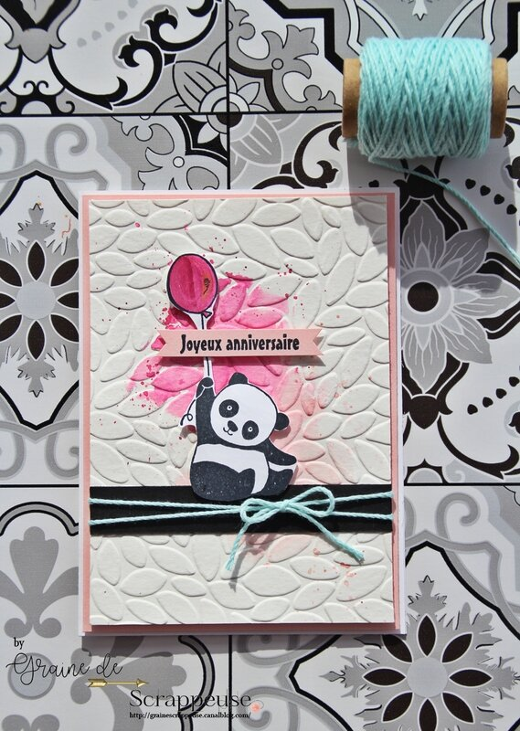 Carte pandas festifs stampin'up by Graine de Scrappeuse