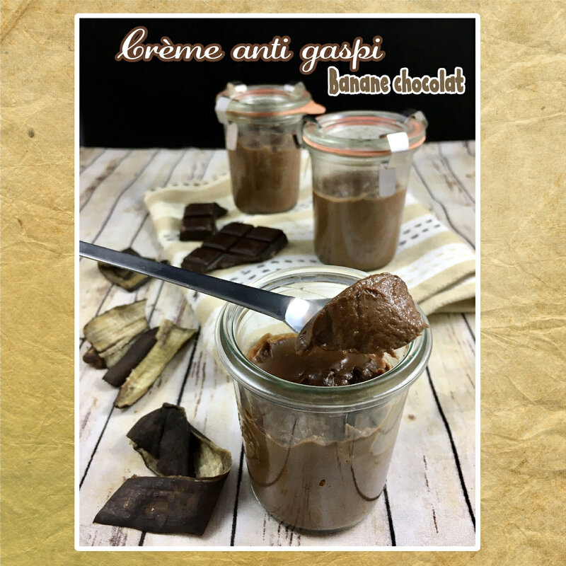 Crème anti gaspi banane chocolat