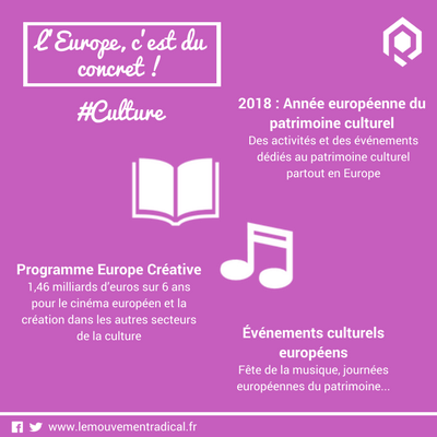 L'Europe, c'est du concret ... et de la culture !