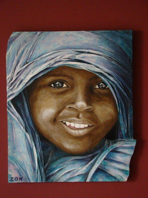 """Tableau enfant du Kenya : """"Au delà du regard!"""""""