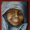Tableau enfant du kenya :