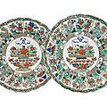 A pair of famille verte dishes, kangxi period (1662-1722)