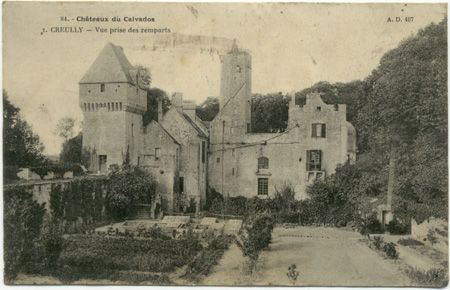 14 - CREULLY - Chateau - Vue prise des remparts