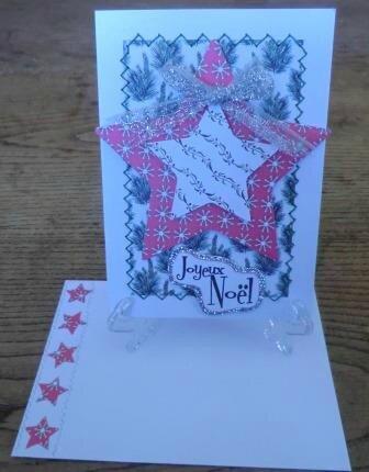 carte Noël étoile blanche