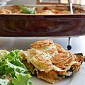 Les lasagnes aux légumes et au chèvre
