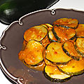 Courgettes à l'arrabiata