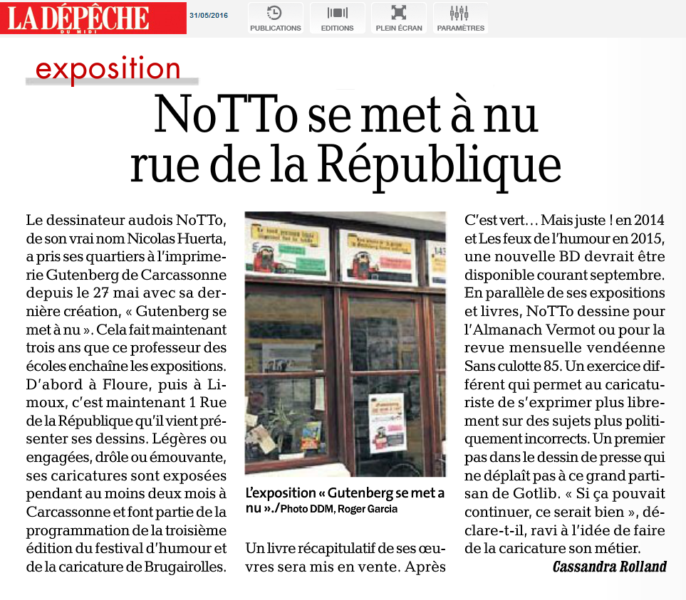 05 -2016 - Expo GUT - Article LA DEPECHE 02
