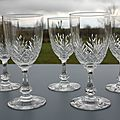 Verres Saint Louis Massenet