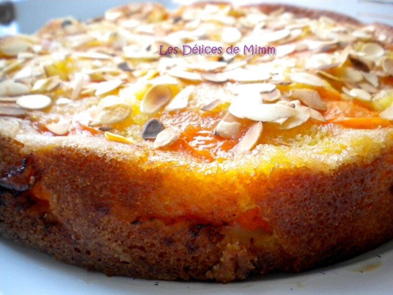 Gâteau moelleux aux abricots et amandes 3
