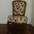 Chaise louis xv - avant/après