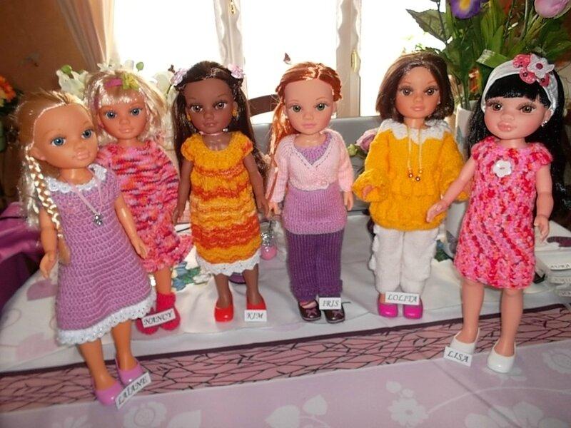 Elaïane, Nancy, Kim, Iris, Lolita, Lisa ( 6 Nancy )