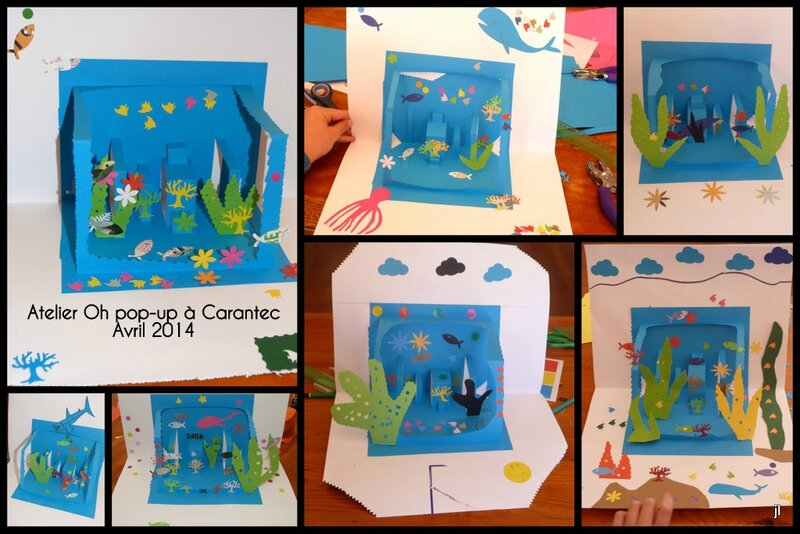 Atelier pop-up Carantec projet aquarium1