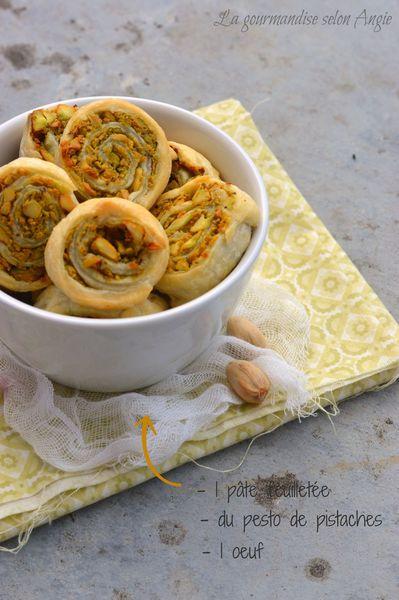 roulés feuilletés au pesto de pistaches 1