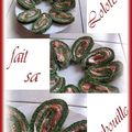 Roule aux épinards saumon et boursin