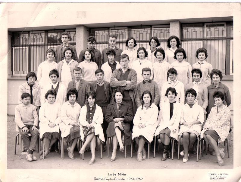 Lycée mixte de Ste-Foy, 1961-1962