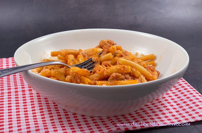 Pâtes à la saucisse italienne et à la mozzarella 3