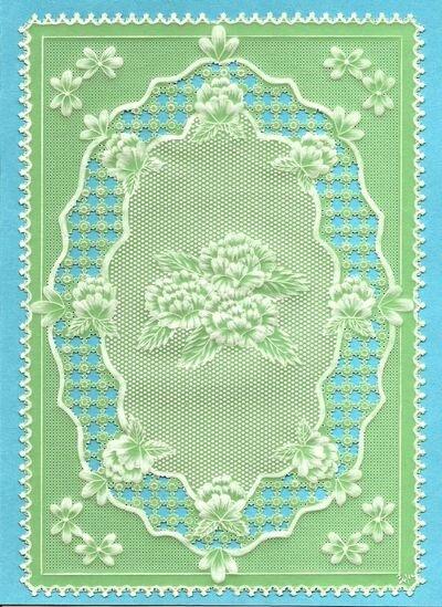 fleurs d'après un modèle de parchment craft d'avril 2009 par Christine Coleman (avril 2012)