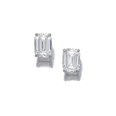 Pair of diamond earrings, Cartier